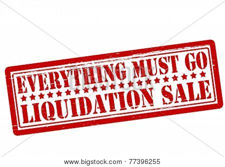 Everything Must Go Liquidation Sale