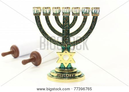 Menorah And Torah