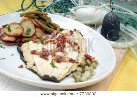 Plaice With Some Potato And Organic Beans