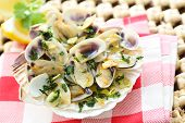 picture of clam  - fried bean clams in olive oil - JPG