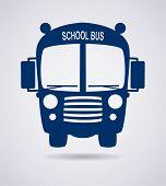 image of driving school  - vector icon or symbol of school bus - JPG