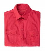 picture of t-shirt red  - Cute womens clothing - JPG