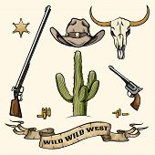 pic of guns  - Objects of the wild west - JPG