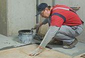 pic of ceramic tile  - Laying Ceramic Tiles - JPG