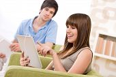 stock photo of tablet pc computer  - Student  - JPG