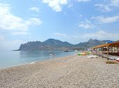 picture of crimea  - The pebble beach in Koktebel - JPG
