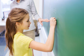stock photo of schoolgirl  - education - JPG