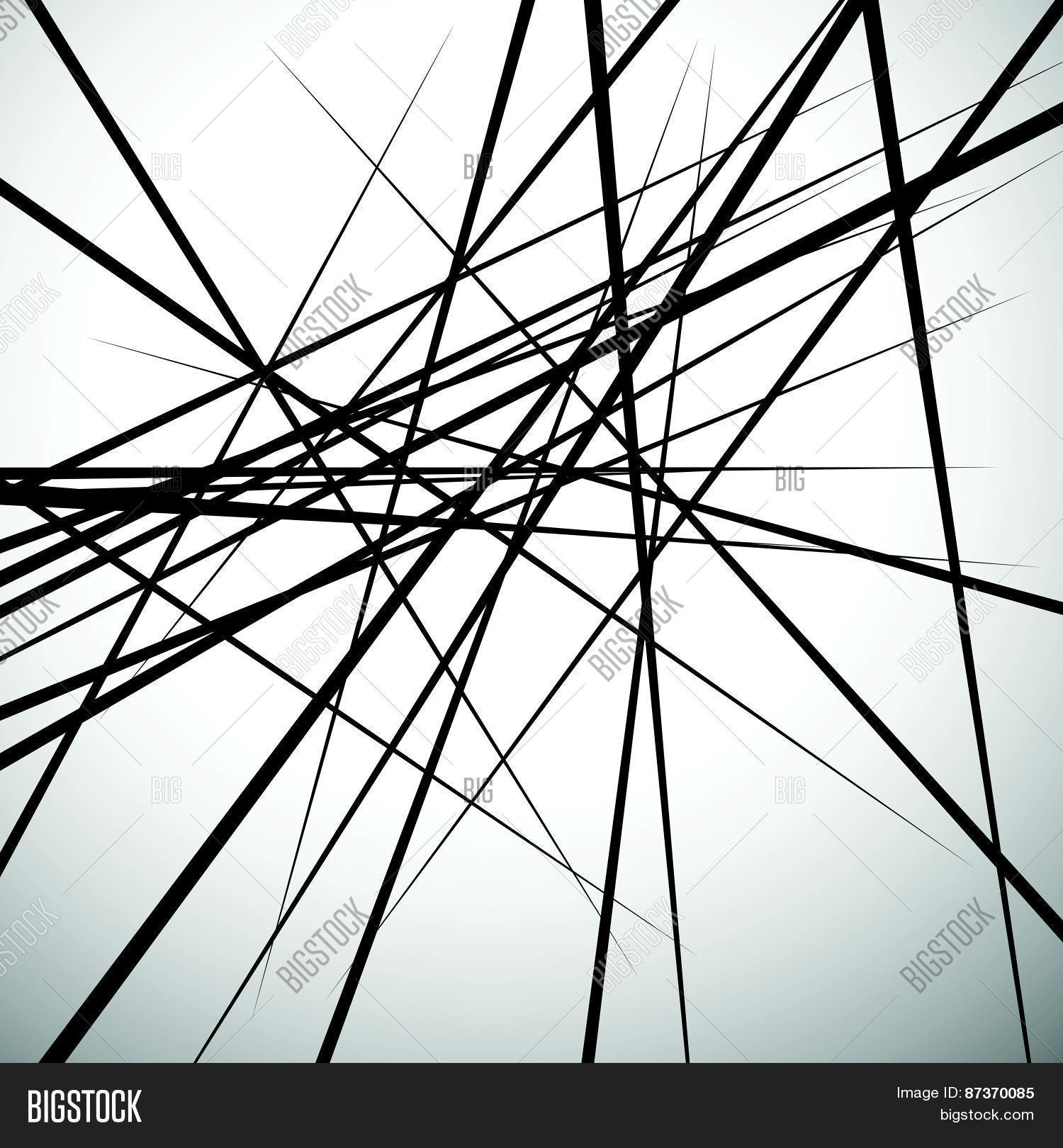Abstract Line Art Paintings : Random lines abstract background vector photo bigstock