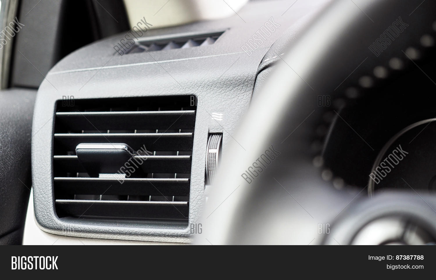 interior car air conditioning fan stock photo stock images bigstock. Black Bedroom Furniture Sets. Home Design Ideas