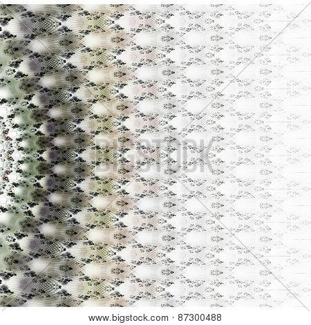 Symmetrical Green Fractal Flower, Digital Logarithm