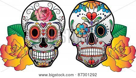 Sugar Skulls Vector