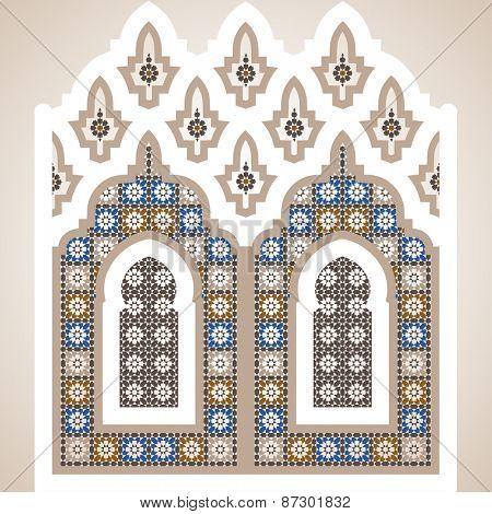 Arabian ornament vector illustration