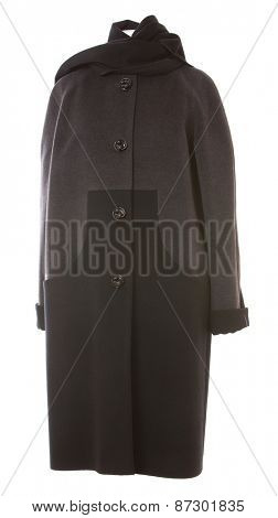Coat isolated on a white background