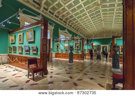Interior Of State Hermitage, St.petersburg, Russia