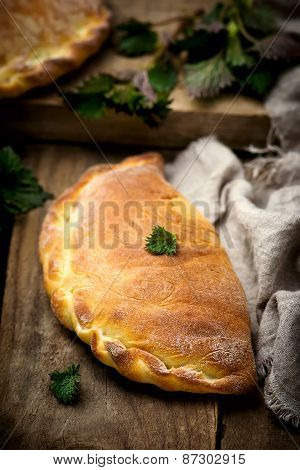 Calzone With Ricotta  And  Nettle