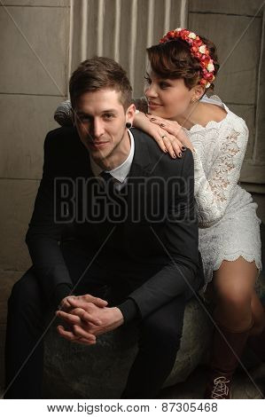 Wedding photo session in the Studio