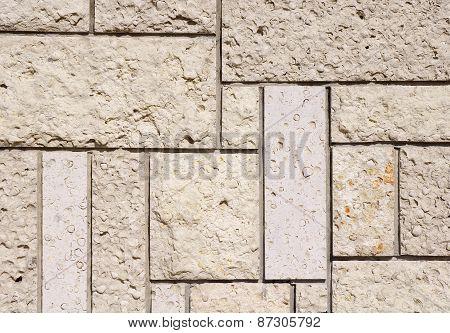New Stone Cladding Plates Closeup