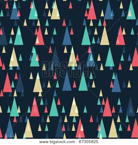 Geometric retro triangles seamless pattern