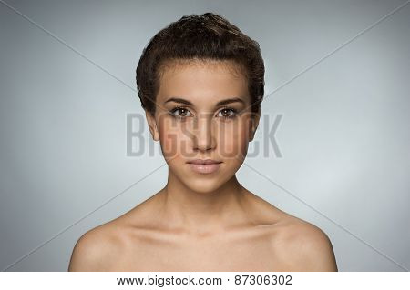 Beautiful brown-eyed natural girl