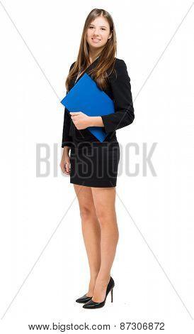 Full length female manager