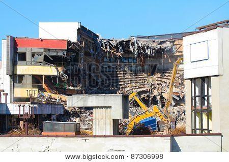Broken building ruins