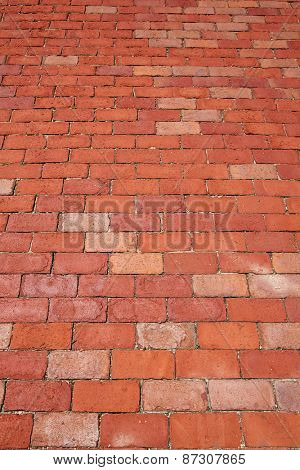 Boston clay brick flooring texture in Massachusetts USA