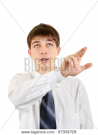 Teenager Pointing