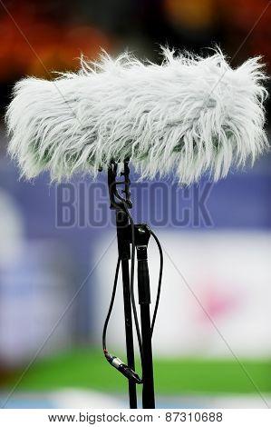 Big Microphone On Sport Arena