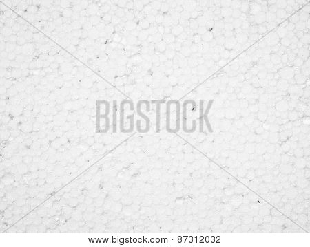 White Styrofoam Texture Background