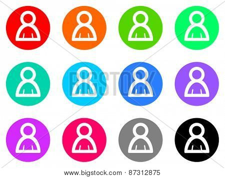person colorful vector flat icon set