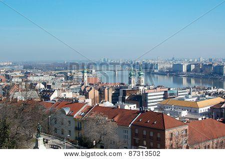 Beautiful view on Hungarian capital city, Budapest.