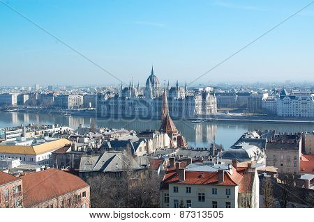 Danube river and cityscape of Budapest