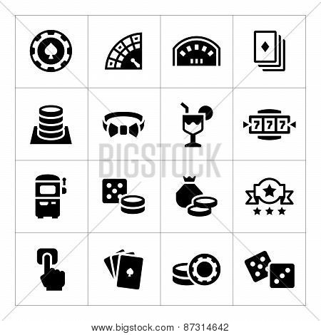 Set Icons Of Casino