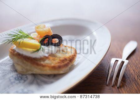 Buckwheat Blini With Smoked Salmon