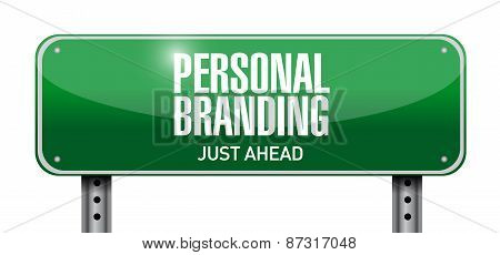 Personal Branding Road Sign Illustration Design