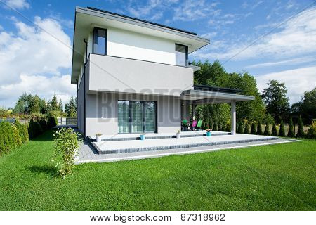 Modern House From The Outside