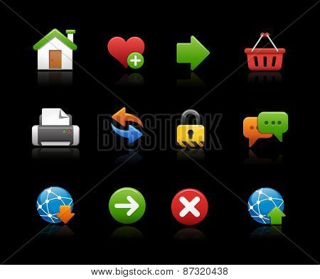 Web Site Icons // Black Background
