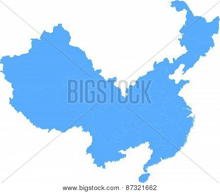 Map Of People's Republic Of China - Henan Province