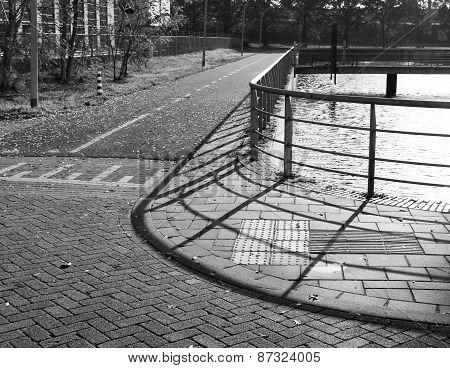 Sidewalk With Fence