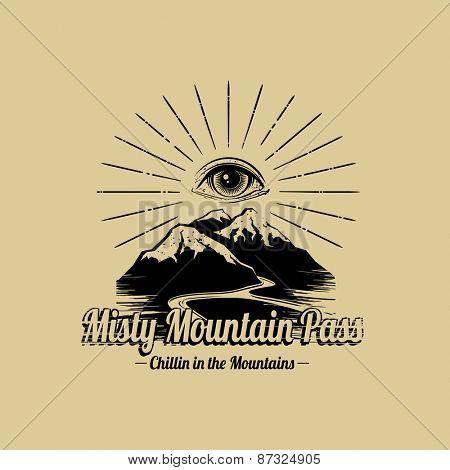 Mountain Adventure Explorer graphic design