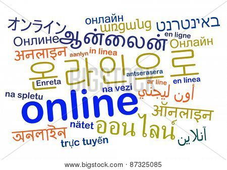Background concept wordcloud multilanguage international many language illustration of translation online