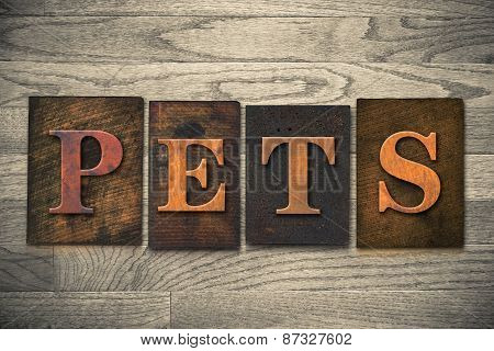 Pets Wooden Letterpress Theme