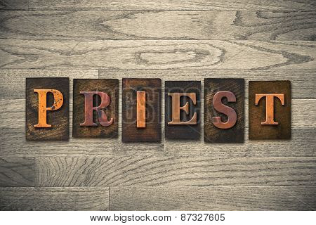 Priest Wooden Letterpress Theme