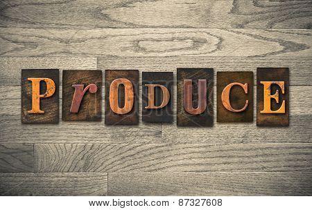 Produce Wooden Letterpress Theme