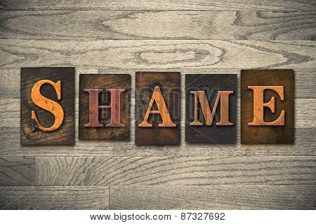 Shame Wooden Letterpress Theme