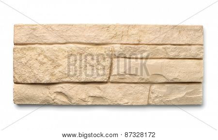 Decorative wall tiles isolated on white