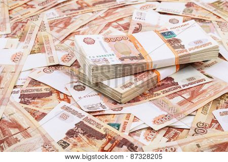 Close up of millions of rubles