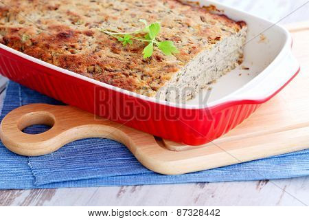 homemade poultry pate with mushroom - food and drink