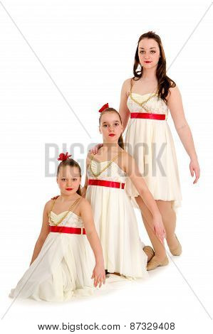 Three Sisters Dance Trio In Same Costume