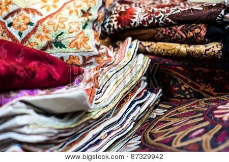 traditional Arab rugs in the market